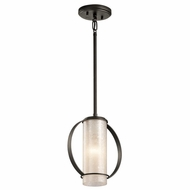 Kichler 43320OZ Berra Olde Bronze Finish 9.25  Wide Mini Pendant Lighting