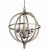 Kichler 43327DAG Evan Distressed Antique Gray Finish 37.25  Tall Chandelier Light