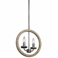 Kichler 43328DAG Evan Distressed Antique Gray Finish 13  Wide Pendant Light