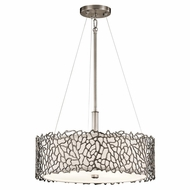 Kichler 43346CLP Silver Coral Contemporary Classic Pewter Finish 11.25  Tall Drum Drop Ceiling Lighting