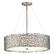 Kichler 43347CLP Silver Coral Modern Classic Pewter Finish 22  Wide Drum Ceiling Light Pendant