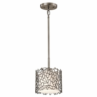 Kichler 43349CLP Silver Coral Modern Classic Pewter Finish 7.25  Wide Mini Drum Ceiling Pendant Light