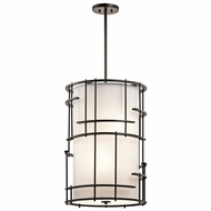 Kichler 43369OZ Tremba Olde Bronze Finish 18  Wide Pendant Lamp