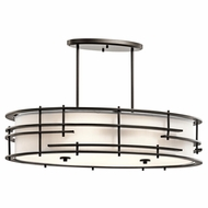 Kichler 43370OZ Tremba Olde Bronze Finish 19  Tall Kitchen Island Light