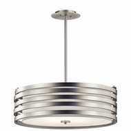 Kichler 43390NI Roswell Modern Brushed Nickel Drum Drop Lighting Fixture