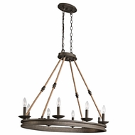 Kichler 43422OZ Kearn Country Olde Bronze Finish 23.75  Wide Island Light Fixture