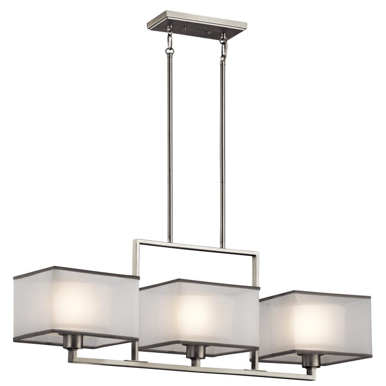 wonderful Kitchen Island Lighting Brushed Nickel #2: Kichler 43437NI Kailey Contemporary Brushed Nickel Finish 9u0026nbsp; Wide Island  Lighting. Loading zoom