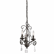 Kichler 43446OZ Marcele Olde Bronze Finish 17.5  Tall Mini Chandelier Light