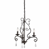 Kichler 43447OZ Marcele Olde Bronze Finish 17.75  Wide Mini Chandelier Lighting