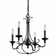 Kichler 43453DBK Basel Traditional Distressed Black Finish 18  Wide Mini Chandelier Light