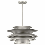 Kichler 43459NI Novara Modern Brushed Nickel Finish 18  Wide Drop Lighting Fixture
