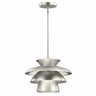 Kichler 43460NI Novara Contemporary Brushed Nickel Finish 10  Tall Pendant Lighting