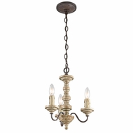 Kichler 43469VWW Briellis Vintage Weathered White Finish 12.5  Wide Mini Chandelier Lighting