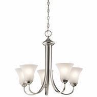 Kichler 43503NI Keiran Brushed Nickel Finish 20  Tall Mini Ceiling Chandelier