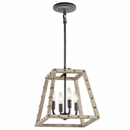 Kichler 43519DAG Basford Rustic Distressed Antique Gray Finish 13.5  Tall Foyer Light Fixture