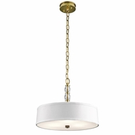 Kichler 43547NBR Rossington Natural Brass Finish 13.25  Tall Drum Pendant Hanging Light