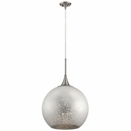 Kichler 43553NI Sitara Modern Brushed Nickel 18  Pendant Light Fixture