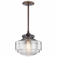 Kichler 43563SBR Keller Shadow Brass 12  Pendant Lighting Fixture