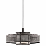 Kichler 43575WZC Argesto Retro Weathered Zinc Finish 30.25  Wide Drum Drop Lighting