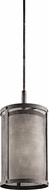Kichler 43576WZC Argesto Vintage Weathered Zinc Finish 19.25  Tall Mini Drum Drop Ceiling Lighting
