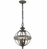 Kichler 43612OZ Halleron Olde Bronze Hanging Pendant Light