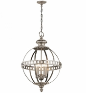 Kichler 43613CLP Halleron Classic Pewter Pendant Hanging Light