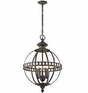 Kichler 43613OZ Halleron Olde Bronze Hanging Light Fixture