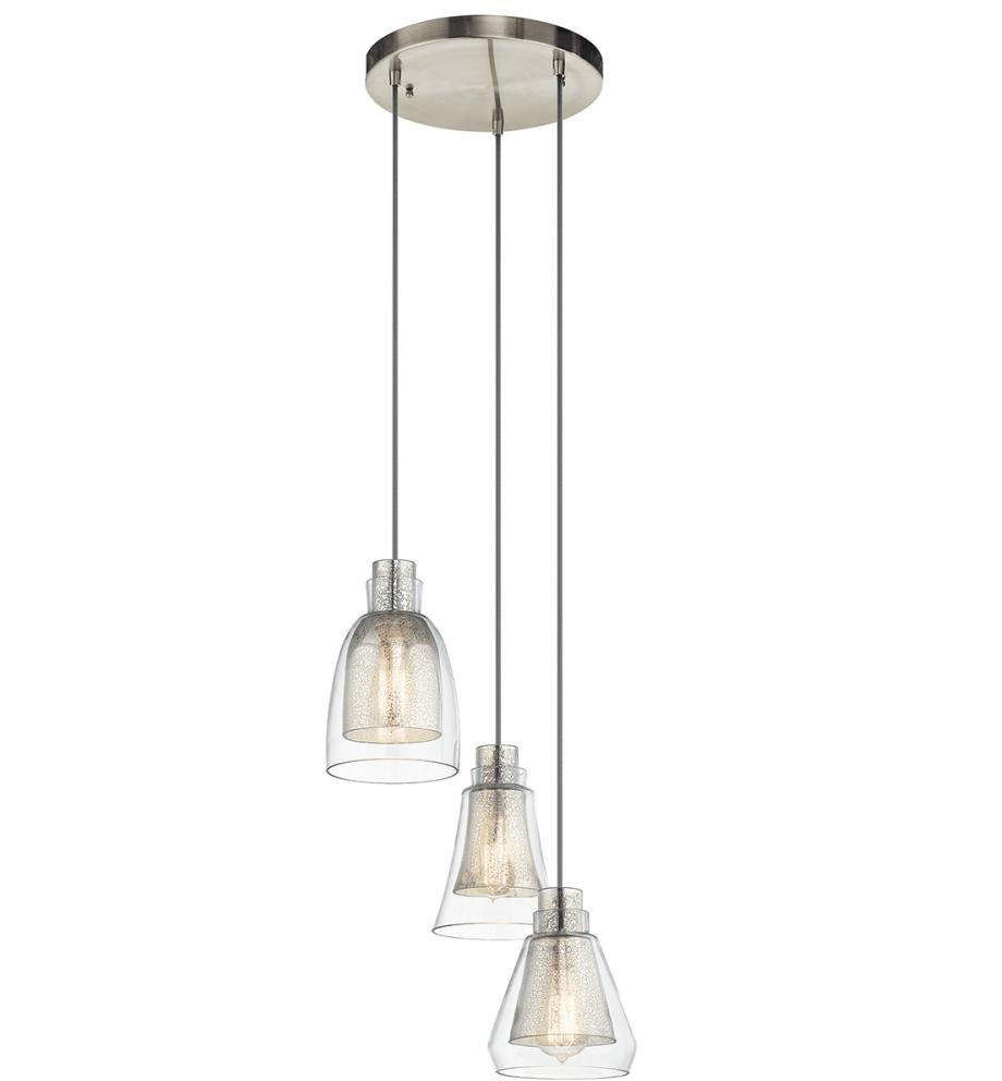 Kichler 43627ni evie contemporary brushed nickel multi for Contemporary lighting pendants
