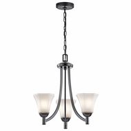 Kichler 43630BK Serena Black Mini Lighting Chandelier