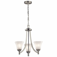 Kichler 43630NI Serena Brushed Nickel Mini Chandelier Lamp
