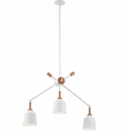 Kichler 43680WH Danika Modern White Mini Chandelier Light