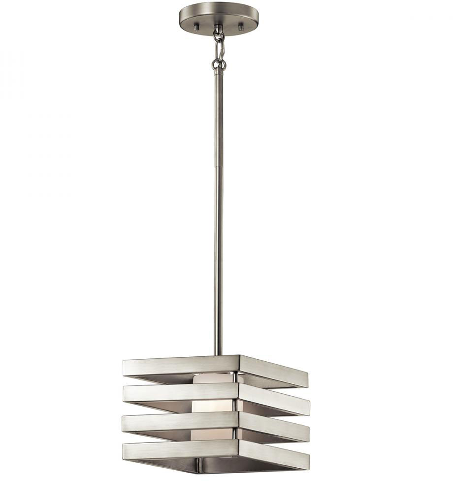 Kichler 43688ni realta contemporary brushed nickel halogen for Contemporary lighting pendants