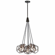 Kichler 43718RS Rocklyn Modern Raw Steel Multi Lighting Pendant