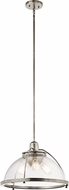 Kichler 43739CLP Silberne Modern Classic Pewter Hanging Lamp