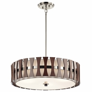 Kichler 43753AUB Cirus Modern Auburn Stained Drum Pendant Lighting Fixture