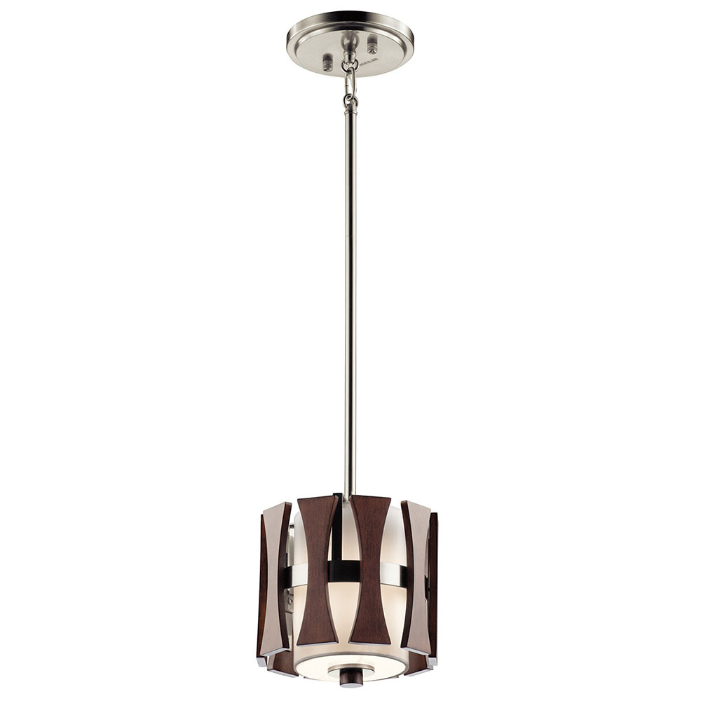 Kichler 43755aub cirus modern auburn stained mini hanging for Contemporary lighting pendants