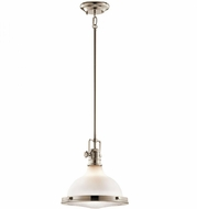 Kichler 43765PN Hatteras Bay Nautical Polished Nickel Mini Pendant Light