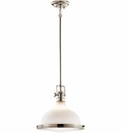 Kichler 43766PN Hatteras Bay Nautical Polished Nickel Pendant Lamp