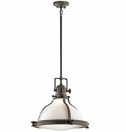 Kichler 43767OZ Hatteras Bay Nautical Olde Bronze Hanging Lamp