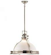Kichler 43768PN Hatteras Bay Nautical Polished Nickel Pendant Lighting Fixture