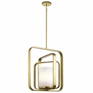 Kichler 43783NBR City Loft Contemporary Natural Brass Drop Ceiling Lighting