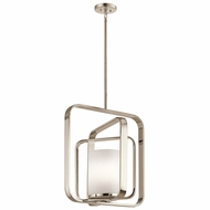 Kichler 43783PN City Loft Contemporary Polished Nickel Ceiling Pendant Light