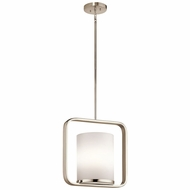 Kichler 43785PN City Loft Contemporary Polished Nickel Mini Pendant Lamp