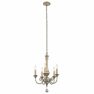 Kichler 43803SGD Rosalie Sterling Gold Mini Hanging Chandelier