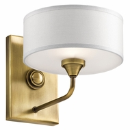 Kichler 43843NBR Lucille Natural Brass Wall Lighting