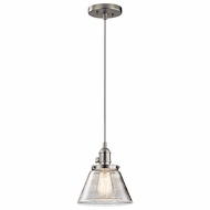 Kichler 43851NI Avery Brushed Nickel Mini Pendant Hanging Light
