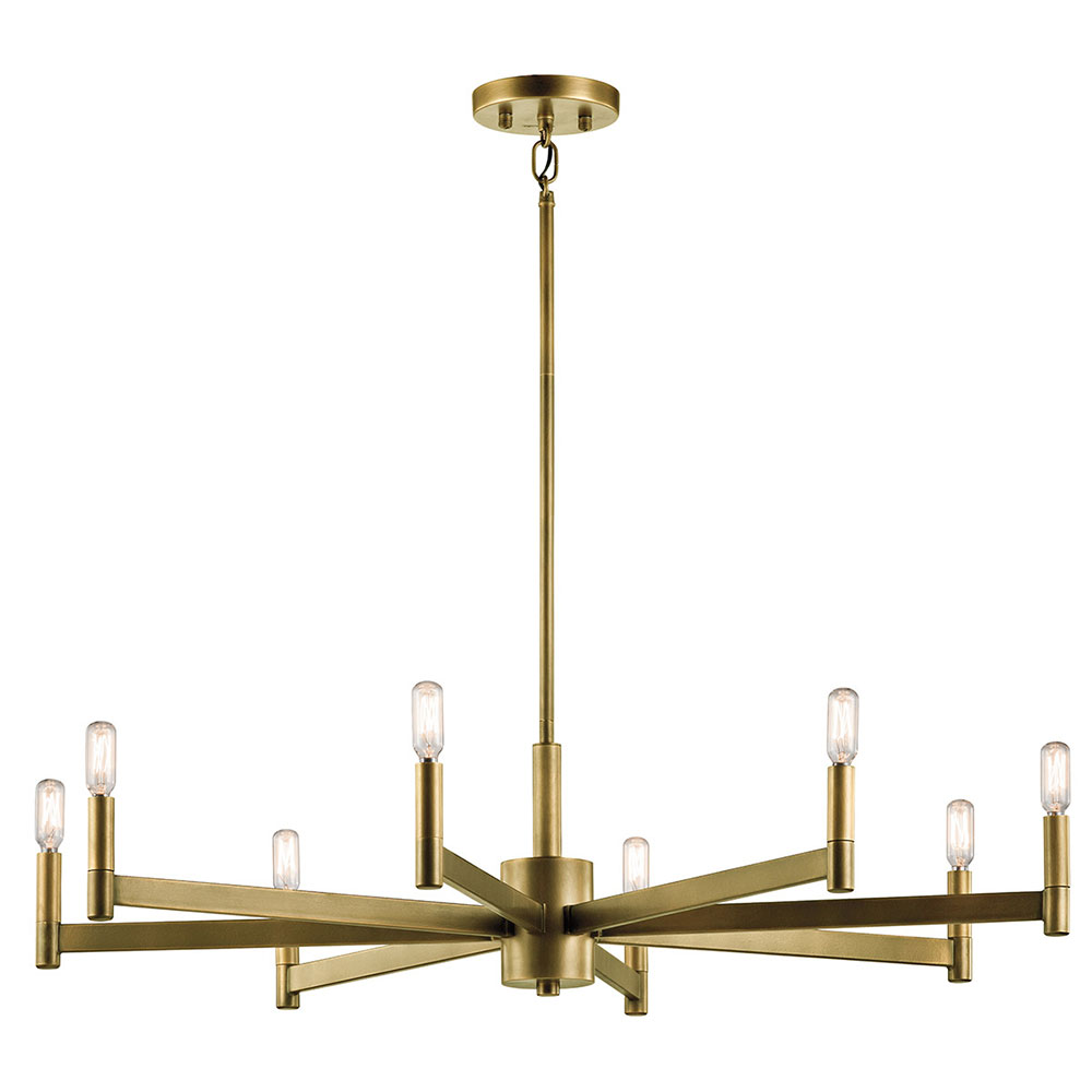 Kichler 43857NBR Erzo Modern Natural Brass Lighting