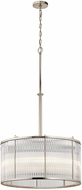 Kichler 43862PN Artina Modern Polished Nickel Drum Pendant Lamp