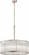 Kichler 43863PN Artina Contemporary Polished Nickel Drum Hanging Lamp