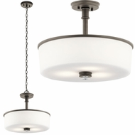 Kichler 43925OZ Joelson Olde Bronze Hanging Pendant Lighting / Flush Mount Lighting
